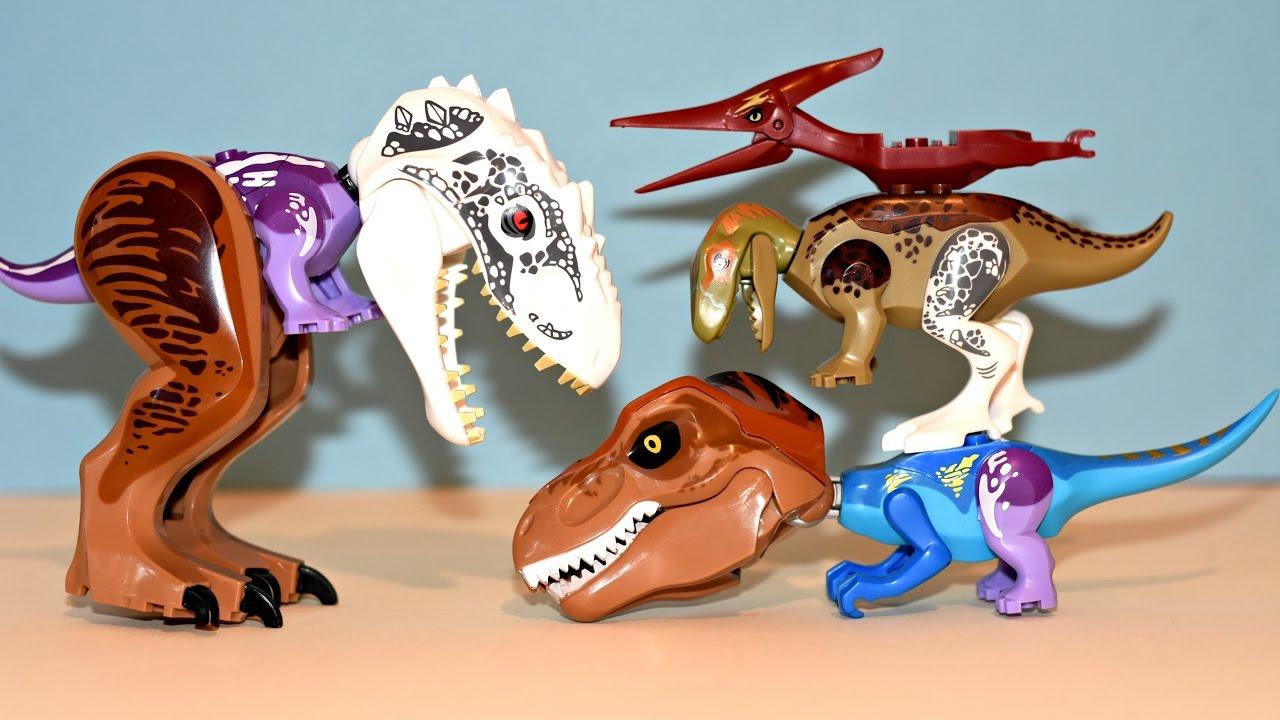 Hybrid Dinosaur Toys Lego Jurassic World Mutant Dinosaurs Indominus Rex T-  Rex
