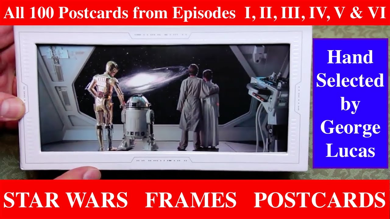 star wars frames 100 postcards detailed review showing every picture