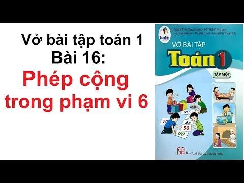 Vở bài tập toán 1 Bài 16 Phép cộng trong phạm vi 6 - Sách Cánh Diều lớp 1 trang 23