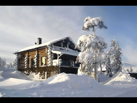 #L0246. Finland cottages & cabins: Silver log holiday cottage in Levi. Santa holidays in Lapland
