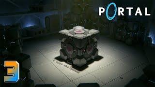 Portal прохождение на геймпаде [60 fps] часть 3 Кубик с сердечком