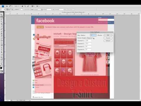 Photoshop tutorial Halftone edge effect