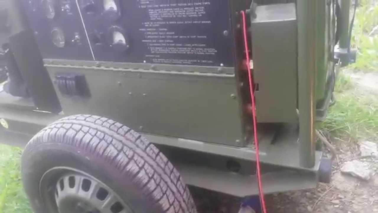 Military generator mep-017a 4a084 engine gasoline 10 kw U S ARMY 1969