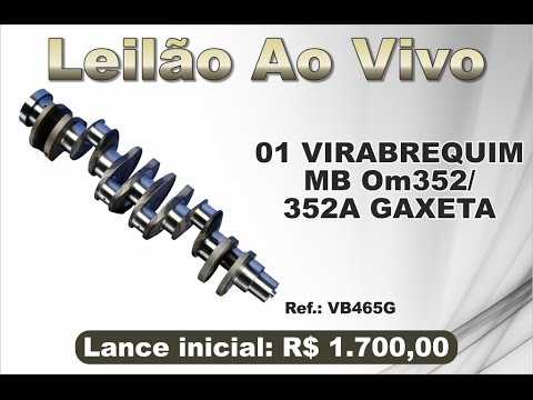 Virabrequim MB OM 352/352a c/Gaxeta - Reis Peças - 26/12/2016