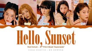 Red Velvet - 'Hello, Sunset' Lyrics Color Coded (Han/Rom/Eng) | @Hansa Game