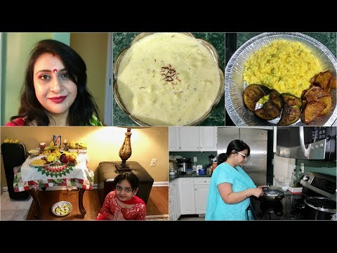 Vlog :  Saraswati Puja And Preparing Bhog Thali | A Day In My Life | Simple Living Wise Thinking