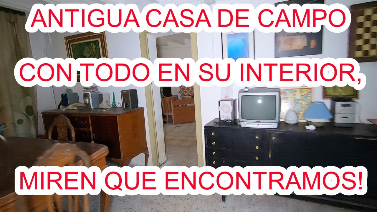 BONITA CASA DE CAMPO Y SUS ANTIGÜEDADES! URBEX WOMAN