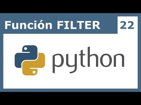 Tutorial Python 22: Función FILTER