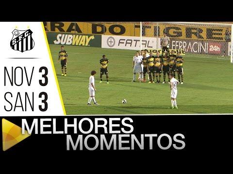 Novorizontino 3 x 3 Santos  | MELHORES MOMENTOS | Paulistão (13/02/16)