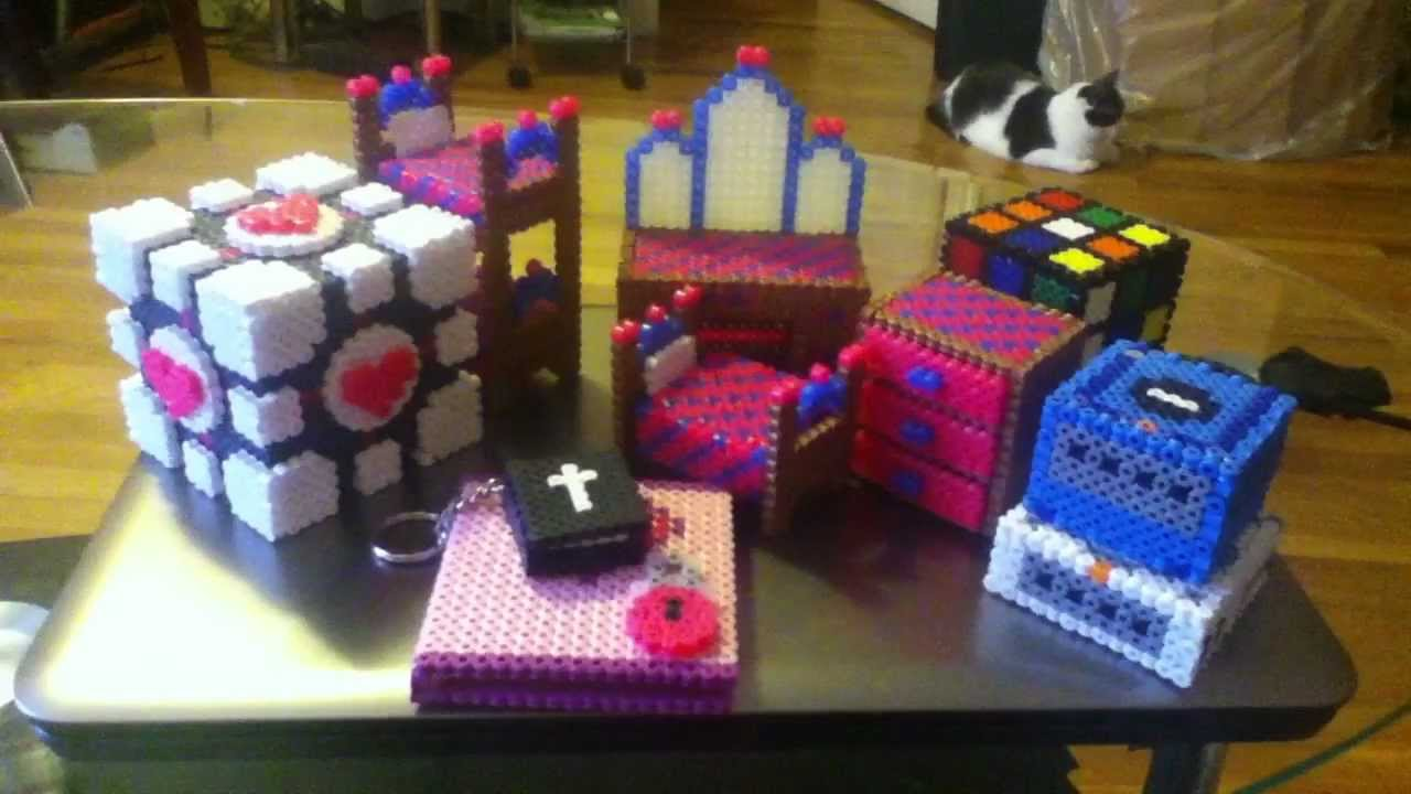 my 3d perler bead collection youtube