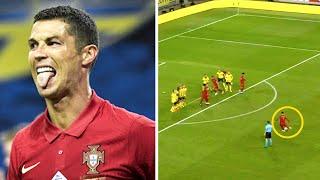 РОНАЛДУ забил крутой ГОЛ СО ШТРАФНОГО и перебил отметку в 100 голов за сборную Швеция Португалия