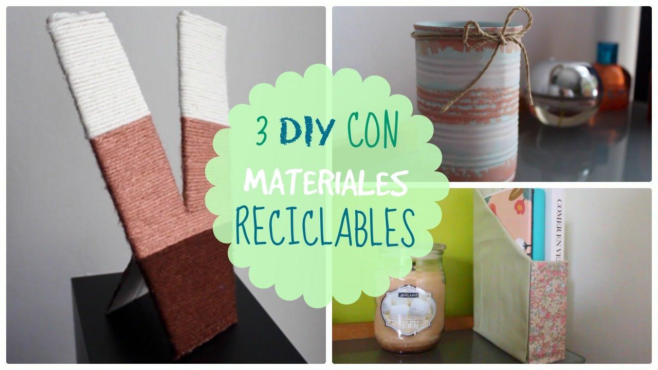 Manualidades con materiales reciclables diy para el d a for Objetos para decorar cocinas