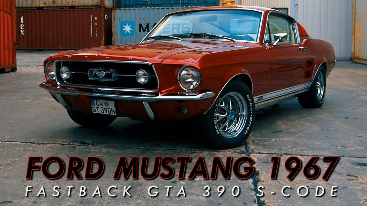 Ford mustang 1967 fastback gta 390 s code 4k