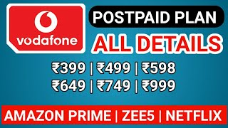 Vodafone Postpaid Plan with Details of Uses and Benefits Subscription