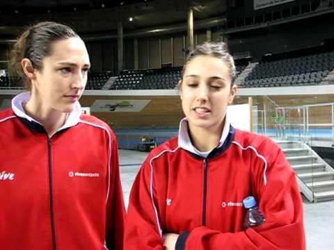 Ruth Riley y Tamara Abalde tras ganar en Palma