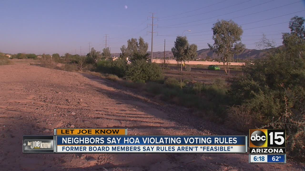 Let Joe Know: Neighbors say HOA is violating their voting rules