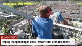Saging (pengencangan kabel) tower sutet