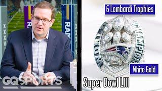 Super Bowl Ring Designer Breaks Down Super Bowl Rings (Patriots, Eagles) | Game Points | GQ Sports
