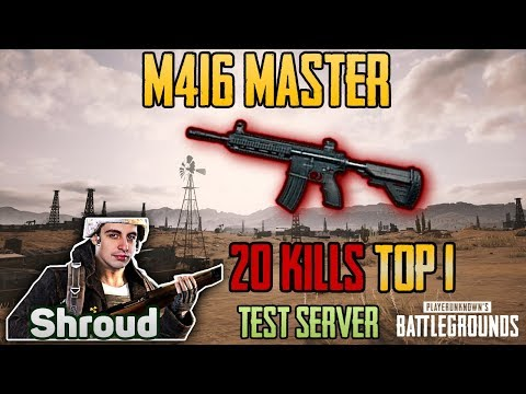 M416 MASTER - Shroud 20 kills DUO Game FPP [TEST SERVER] - PUBG HIGHLIGHTS TOP 1