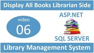how to display all added books librarian side in asp.net lms