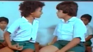 Swayamkrushi Movie || Chiranjeevi Punishing Master Arjun Scene || Chiranjeevi , Vijayashanti