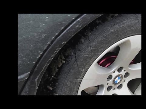 How to repair scuffed black plastic bumper