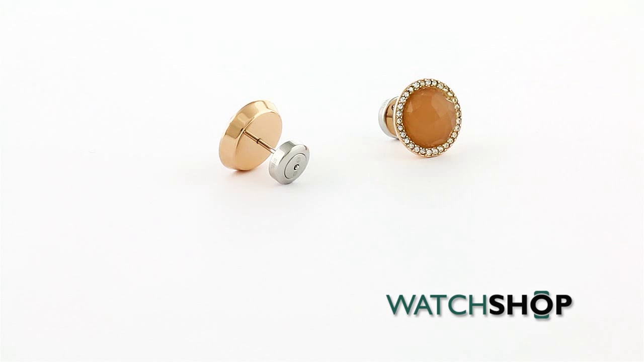 00ebee38ee8 Fossil Jewellery Ladies' Rose Gold Plated Fashion Earrings (JF02498791)