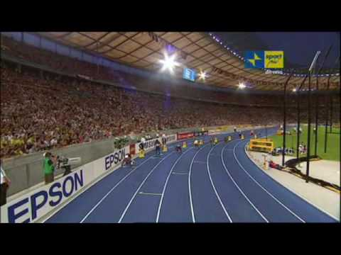 Bolt record 200m Berlino 2009