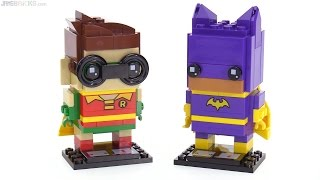 LEGO BrickHeadz Robin & Batgirl reviewed! 41586 41587
