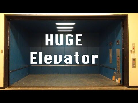 HUGE Freight Elevator ride - Texas sized Thyssen Dover Hydraulic with CUSTOM IMPULSE and EPIC MOTOR