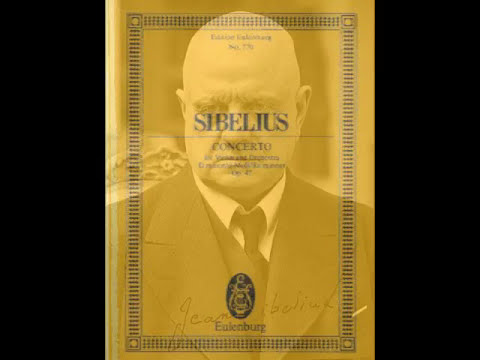 Jean Sibelius Violin Concerto In D Minor Op 47 3mv Piano