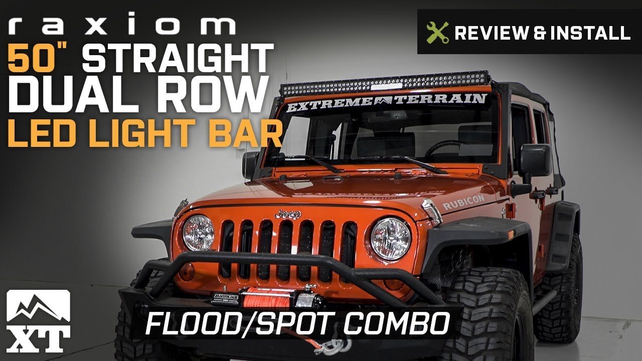 hight resolution of straight dual row led light bar flood spot combo j106721