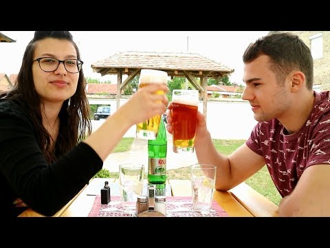 RUSTIC SERBIAN CAFE IN BELGRADE SERBIA   BELGRADE VLOG 002