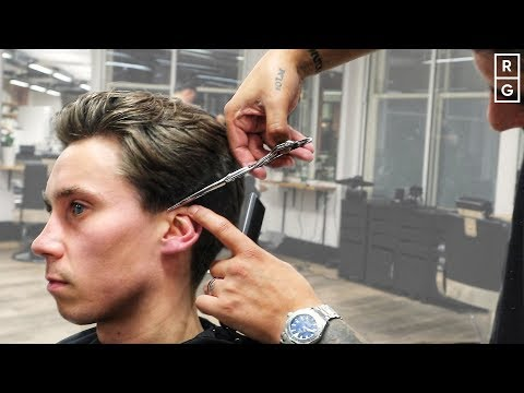 medium-length-easy-to-style-men's-hairstyle-with-clipper-over-comb