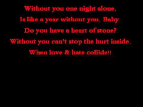 Def Leppard~When Love & Hate Collide Lyrics