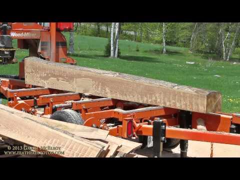 LT40 Wood-Mizer Milling Red Oak