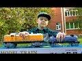 Большой ПОЕЗД и большая ЖЕЛЕЗНАЯ ДОРОГА Игрушка для мальчиков Видео про поезда для детей mp3