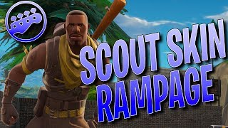SCOUT SKIN RAMPAGE - EPIC Fortnite Battle Royale Gameplay - SCOUT SKIN