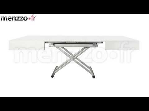 Table basse relevable extensible italienne magic j de - Menzzo table basse relevable extensible ...