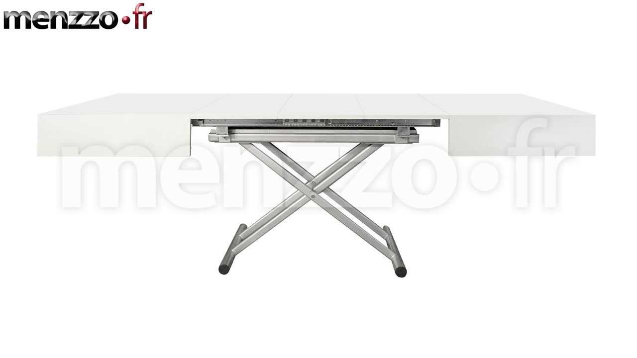 Table basse relevable extensible cassidy youtube for Table basse relevable extensible