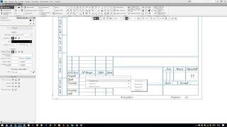 Настройка списка разработчиков в основной надписи в Компас 3D