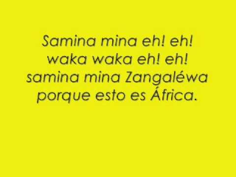 Shakira - Waka Waka Spanish version with Lyrics