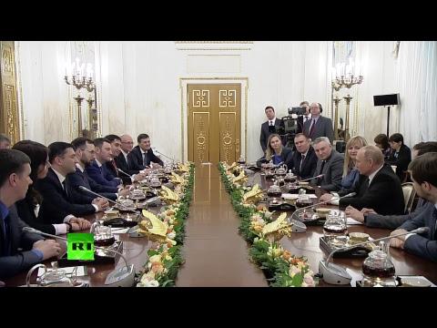 Путин проводит встречу с победителями конкурса «Лидеры России»