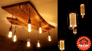 Live Edge Pendent Light. The Whiskey Room Projects #4