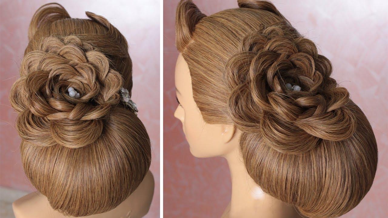 dutch flower braid with loop hairstyle - step by step tutorial