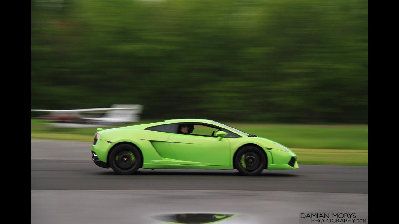 Verde Ithaca Lamborghini Lp560 Ride During Bullfest Youtube