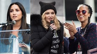 7 Most IMPACTFUL Celeb Speeches From Women's March
