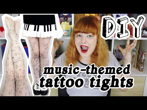 ♬ DIY Tattoo Tights ♬ | Make Thrift Buy #36