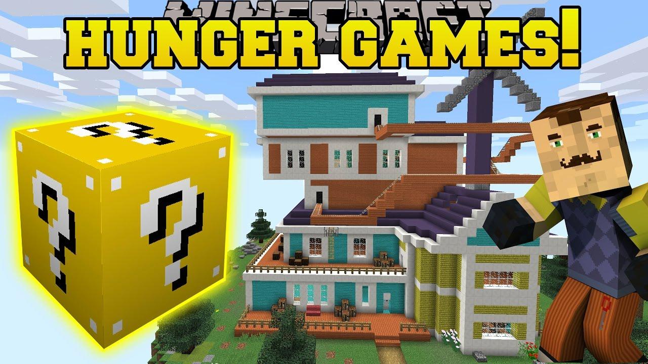 Minecraft Hello Neighbor Hunger Games Lucky Block Mod