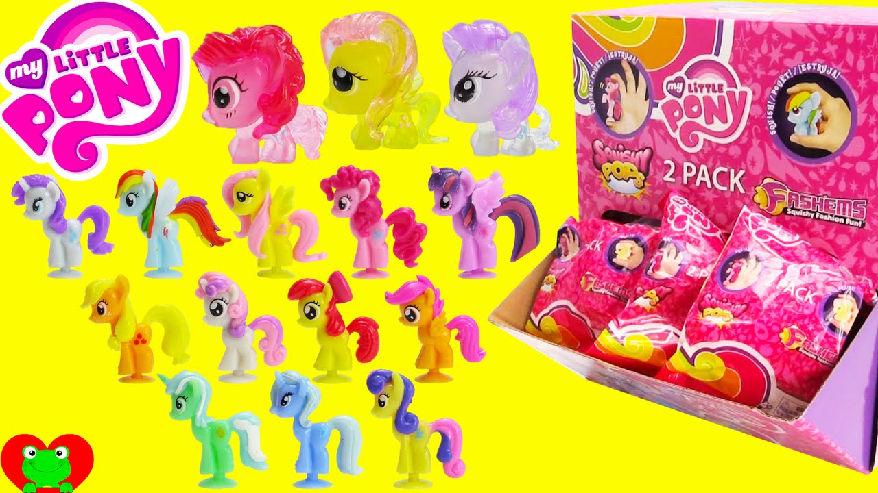 Toys R Us My Little Pony Squishy Pops : My Little Pony Fashems and Squishy Pops 2 Pack Blind Bags - YouTube